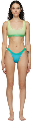 BOUND by Bond-Eye Green and Blue The Malibu Bikini
