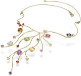 Forzieri 18k Yellow Gold Multi-Gemstones Necklace