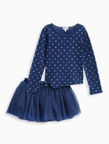 Splendid Little Girl Indigo Tutu Set with Star Top