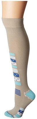 Eurosock Ski Compression (Khaki) Women's Crew Cut Socks Shoes