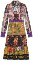 Gucci Patchwork print viscose dress