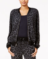 chelsea sky Animal-Print Bomber Jacket, Only at Macy's