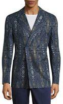 Etro Ikat Printed Linen Over Jacket