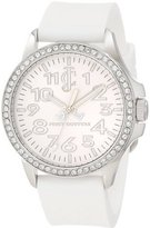 Juicy Couture Women's 1900961 Jetsetter White Silicone Strap Watch