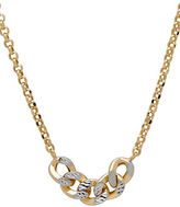 Lord & Taylor 14K Italian Gold and Rhodium-Plated Curb Link Station Necklace