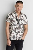 American Eagle Outfitters AE Tropical Pattern Short Sleeve Shirt