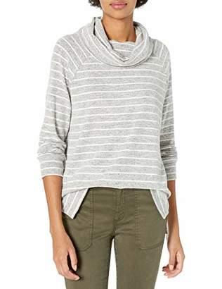 Amazon Brand - Daily Ritual Women's Cozy Knit Raglan Funnel Neck Sweatshirt