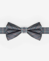 Ted Baker Textured Silk Bow Tie Blue