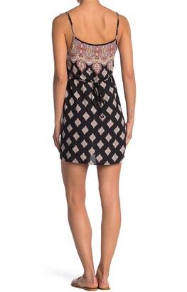 Luna Chix Printed Scoop Neck Sleeveless Mini Dress