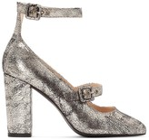 La Redoute Collections Glitter High-Heel Shoes with Ankle Strap