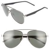 Men's Polaroid Eyewear 61Mm Polarized Aviator Sunglasses - Black/grey