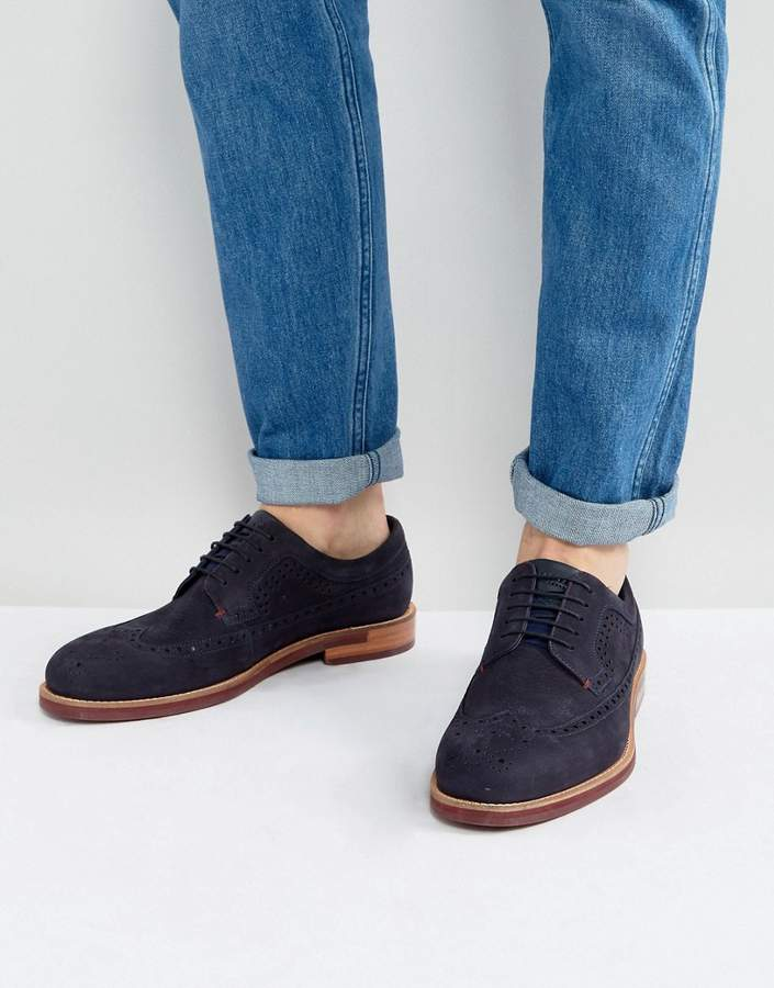 Ted Baker Fanngo Suede Brogue Shoes