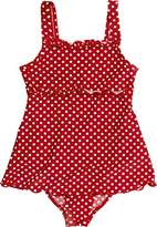 Playshoes Girl's UV Sun Protection Polka Dot Ruffle Skirt Bathing Suit Swimsuit