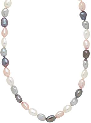 Honora Style Sterling Silver Pink Tuxedo Baroque Pearl Necklace