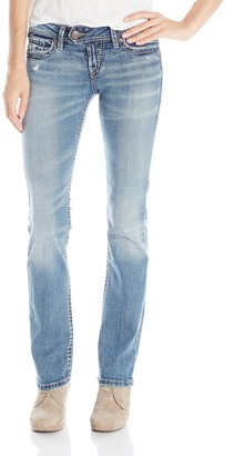 Silver Jeans Junior's Tuesday Low Rise Slim Bootcut Jean