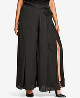 City Chic Trendy Plus Size Split Wide-Leg Pants