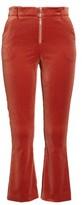 Frame Women's O-Ring Velvet Crop Flare Pants