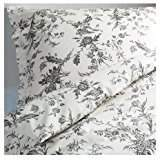 Ikea White and Grey King Size Duvet Cover and 2 Pillow Cases