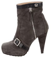 Proenza Schouler Suede Round-Toe Ankle Boots