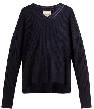 By. Bonnie Young - V-neck Cashmere Sweater - Navy