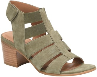 Comfortiva Leather Block Heel Sandals - Alexis