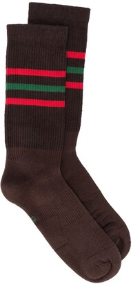 Gucci Knitted Striped Logo Socks