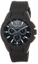Versace Men's Character Round Rubber Band Watch