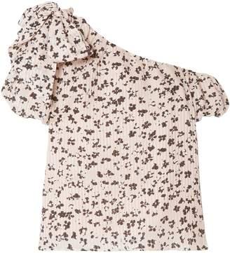 Ulla Johnson One-shoulder Floral-print Cotton And Silk-blend Top