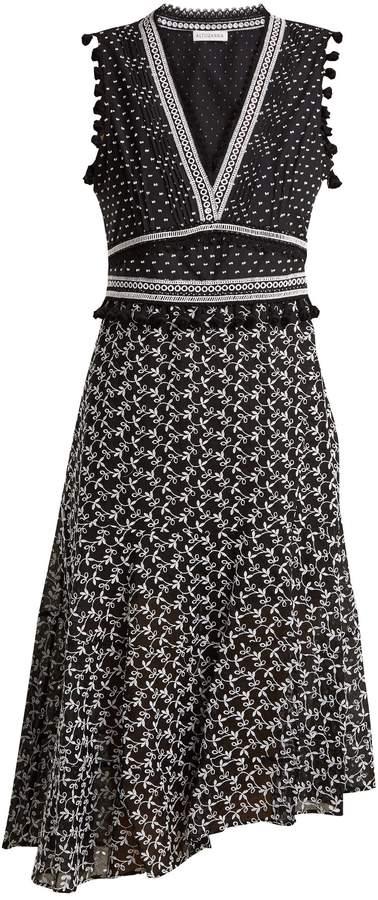 Altuzarra Eiffel V-neck broderie-anglaise dress