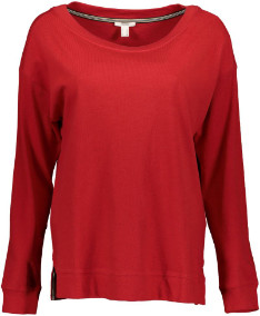 Esprit Red Long Sleeved Fashionable Sweatshirt - L .