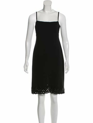 Valentino Silk Bead-Embellished Dress Black
