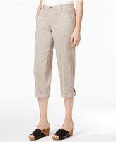 Style&Co. Style & Co Button-Cuff Capri Pants, Created for Macy's