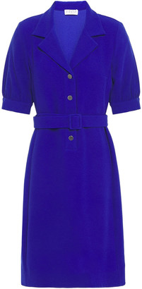 Claudie Pierlot Belted Textured-crepe Mini Dress