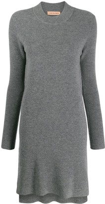 Yves Salomon crew neck knit dress