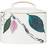 Kate Spade Birch Way Watercolor Floral Bone China Sugar Bowl with Lid