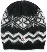 Moncler patterned beanie hat