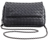 Bottega Veneta Woven Mini Crossbody Bag, Charcoal