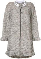 Sonia Rykiel tweed fringed coat