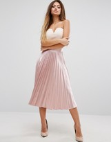 PrettyLittleThing Satin Pleated Skirt