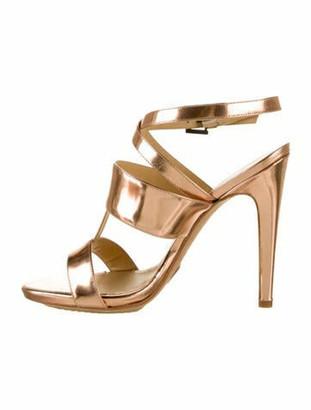 Aperlaï Metallic Leather Sandals w/ Tags Rose