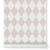 ferm LIVING Harlequin Wallpaper - pink