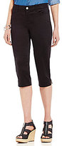 Intro Solid Fiona 4-Pocket Sateen Classic Capri Pant