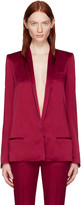 Haider Ackermann Red Satin Classic Blazer