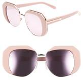 Karen Walker Women's Domingo 52Mm Sunglasses - Crazy Tortoise/ Gold