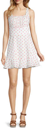 Trixxi Juniors Sleeveless Dots Fit & Flare Dress