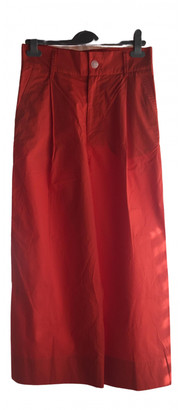 Studio Nicholson Red Cotton Trousers