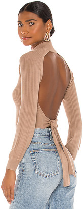 Michael Costello x REVOLVE Cropped Open Back Mock Neck
