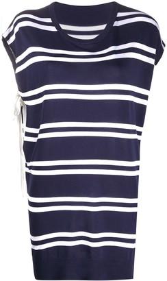 MM6 MAISON MARGIELA striped pattern T-shirt