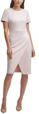 Calvin Klein Petite Side-Wrap Sheath Dress
