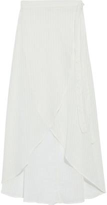 Onia Amanda Cotton-blend Jacquard Maxi Wrap Skirt